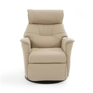Compact Contemporary Recliner with Swivel Glider Base
