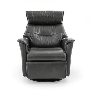 Large Contemporary Recliner with Swivel Glider Base