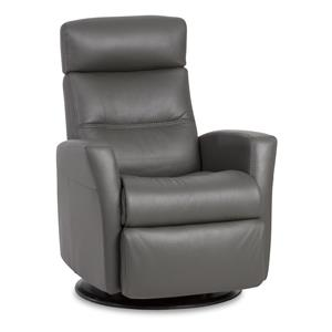 Compact-Size Manual Recliner with Swivel, Glide and Rock