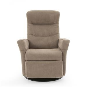 Contemporary Glider Recliner with Cold-Cure Molded Foam