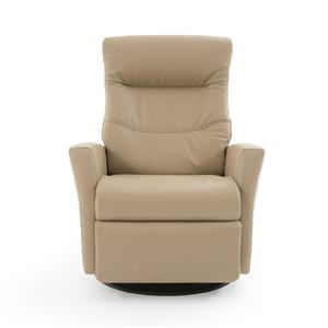 Contemporary Large Glider Recliner with Cold-Cure Molded Foam