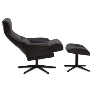 Modern Recliner and Ottoman with 360 Swivel