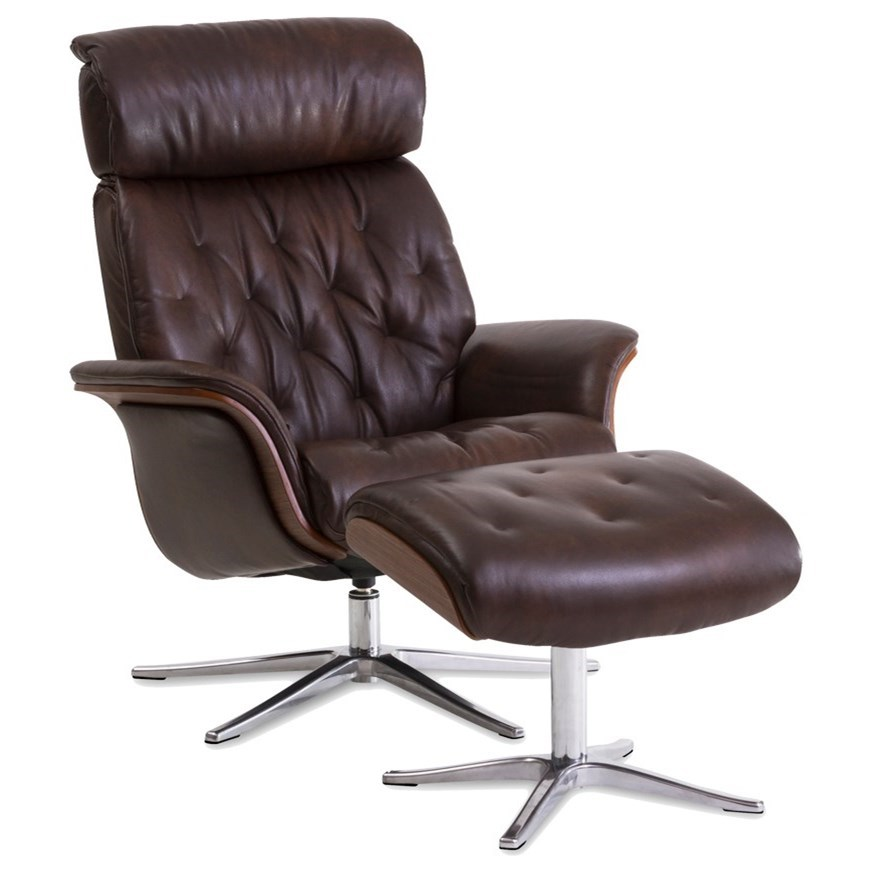 Space Recliner with Ottoman by IMG Norway at Jordan's Home Furnishings