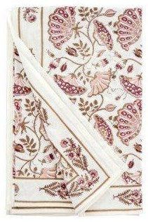 Table Cloth Blooming Table Cloth, Burgandy by Indaba at Stoney Creek Furniture
