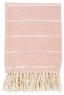 Throw Brushed Cotton Throw, Pink by Indaba at Stoney Creek Furniture