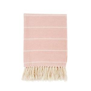 Brushed Cotton Throw, Pink