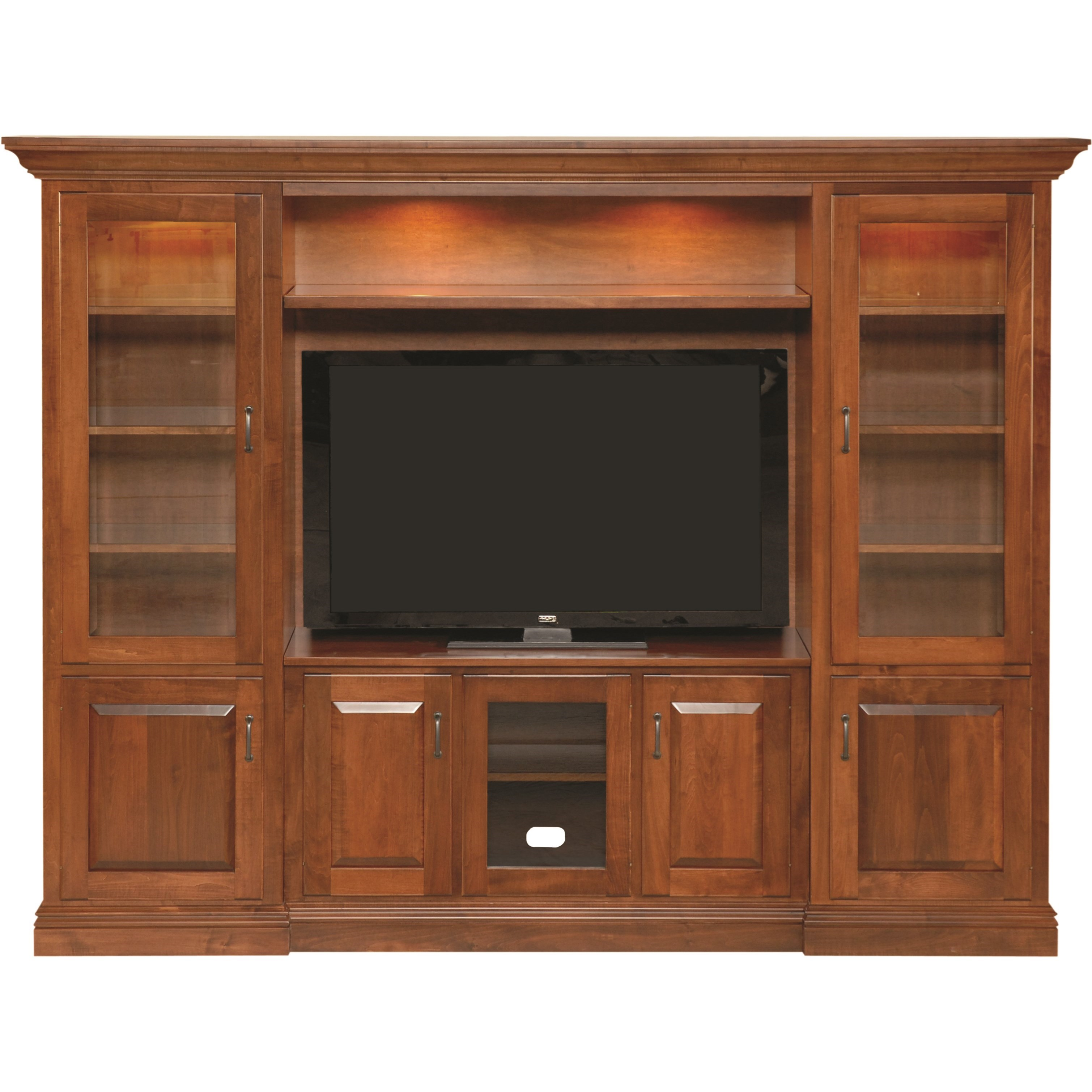Entertainment Customizable TV Wall Unit by INTEG Wood Products at Saugerties Furniture Mart