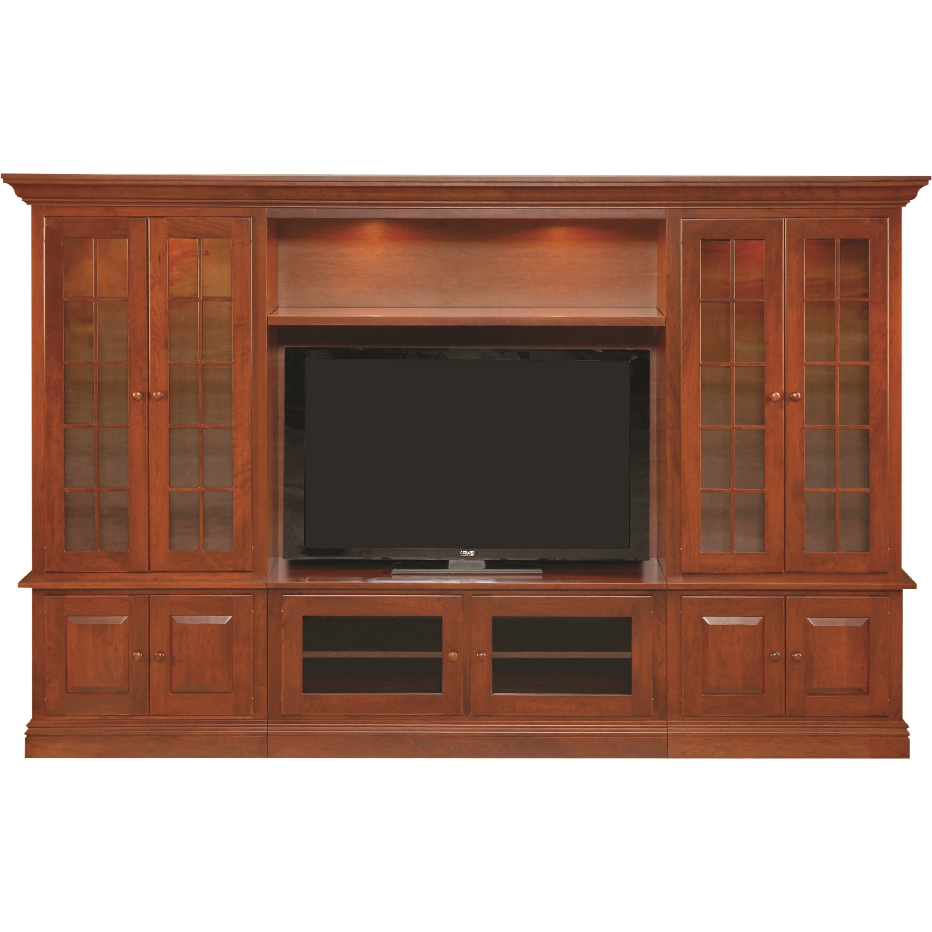 Entertainment Customizable Wall Unit by INTEG Wood Products at Saugerties Furniture Mart