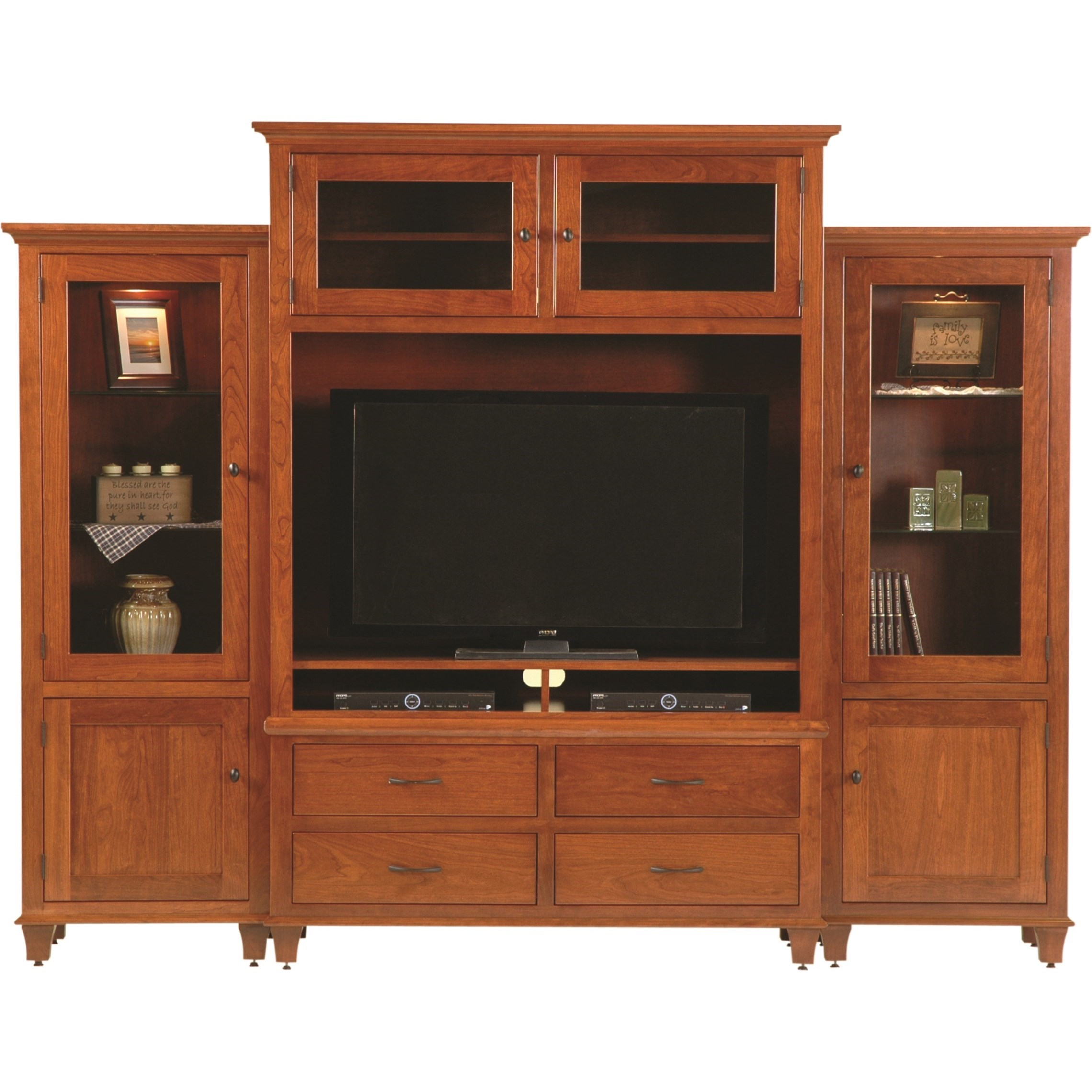 Entertainment Customizable Bourten Magnum Wall Unit by INTEG Wood Products at Saugerties Furniture Mart