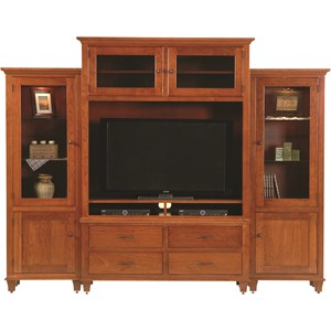 Customizable Bourten Magnum Wall Unit with Removable Shelf