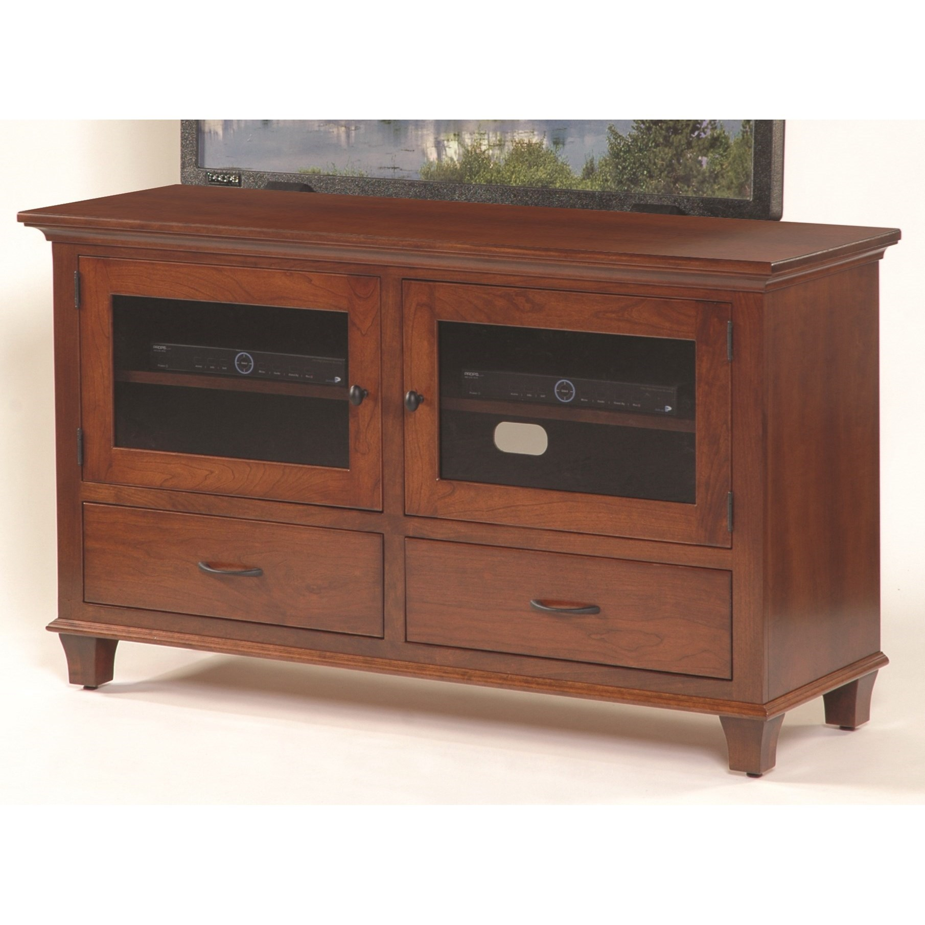 """Entertainment Bourten 54"""" TV Stand by INTEG Wood Products at Saugerties Furniture Mart"""