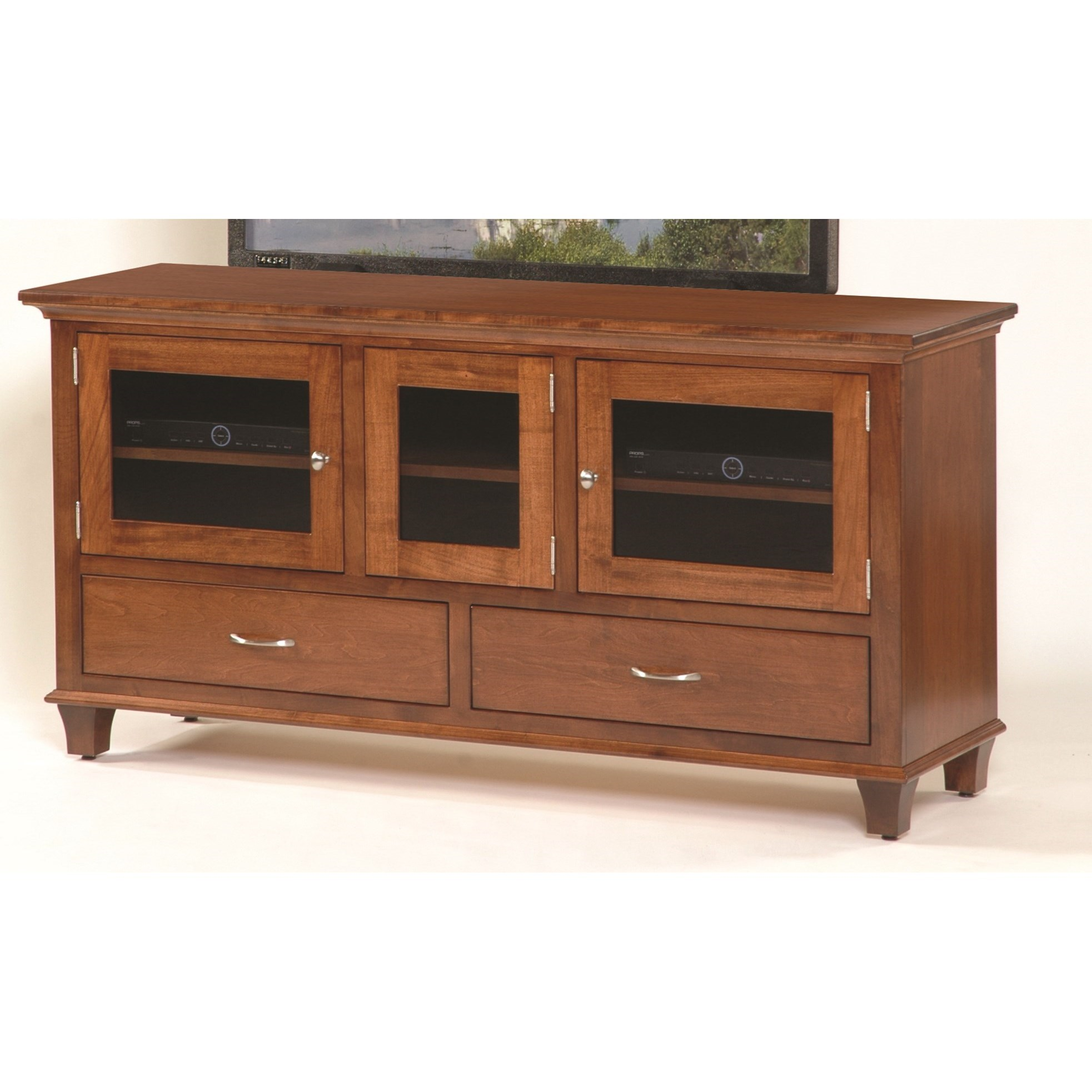 """Entertainment Bourten 63"""" TV Stand by INTEG Wood Products at Saugerties Furniture Mart"""