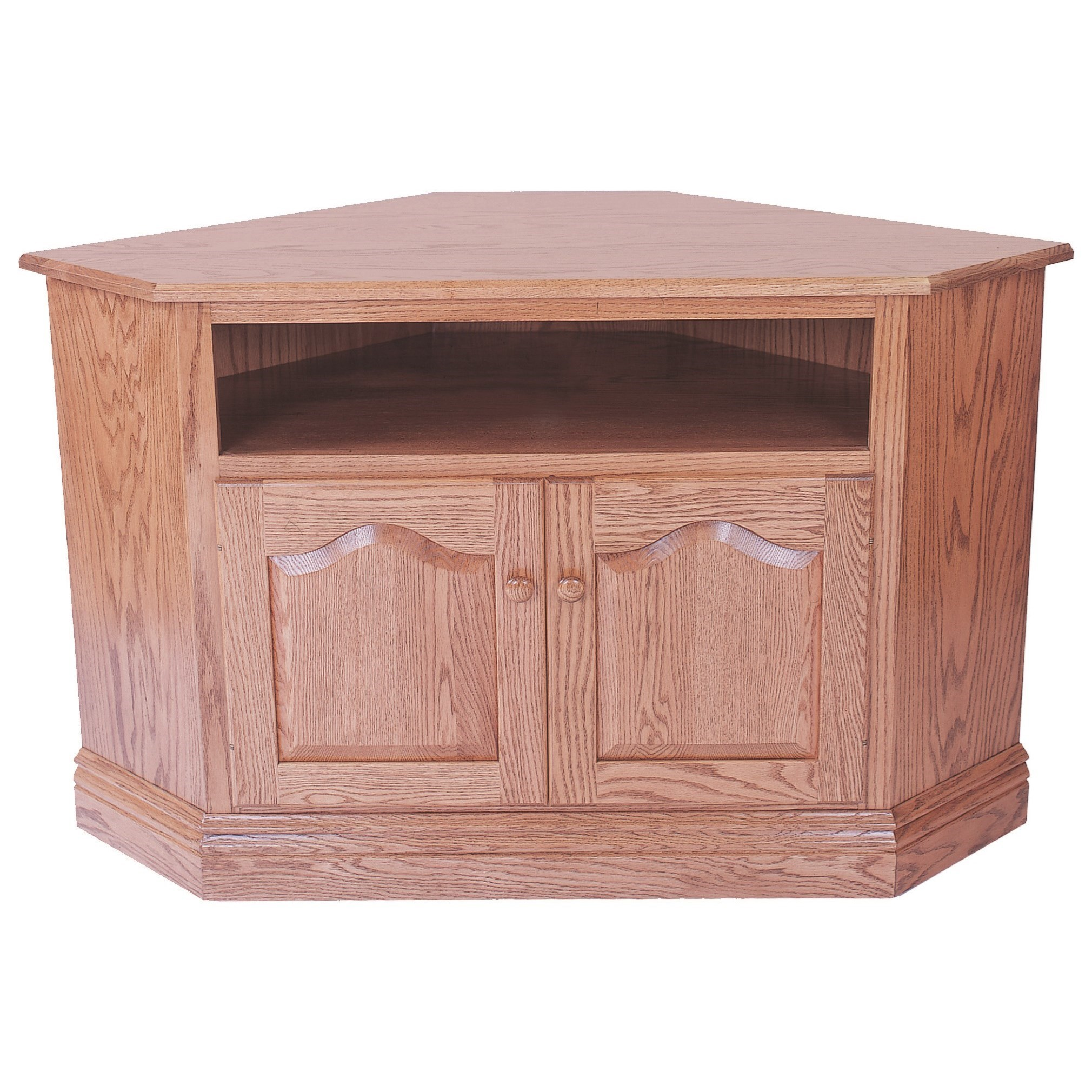Entertainment Corner TV Stand by INTEG Wood Products at Saugerties Furniture Mart