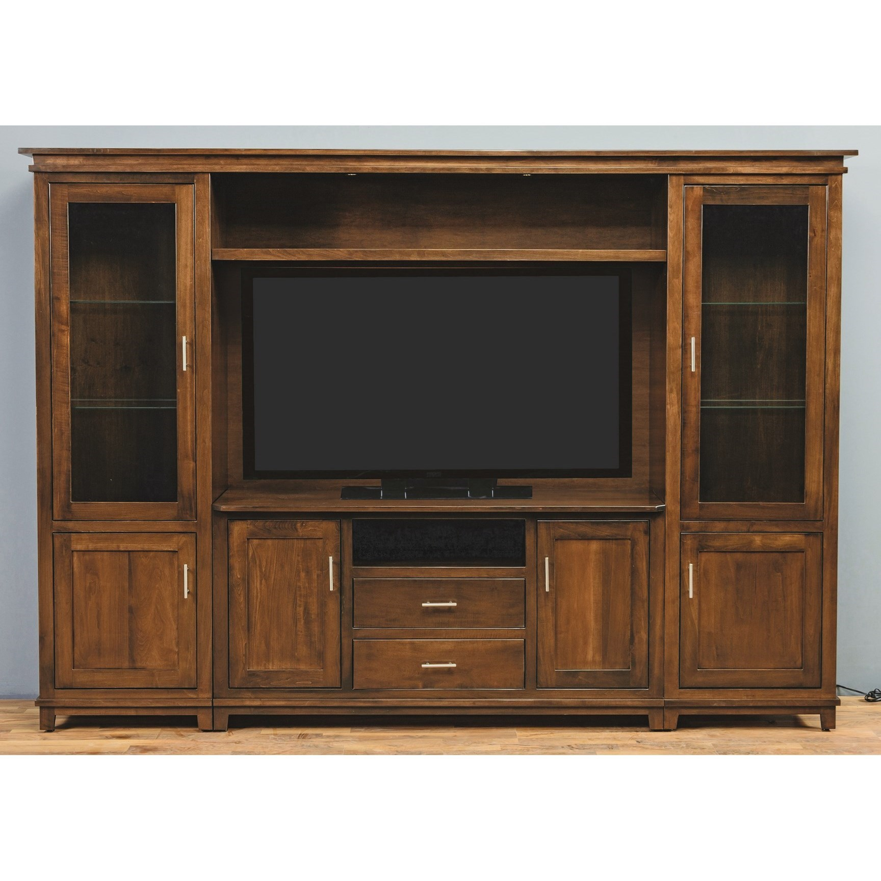Entertainment Customizable Hilton Wall Unit by INTEG Wood Products at Saugerties Furniture Mart