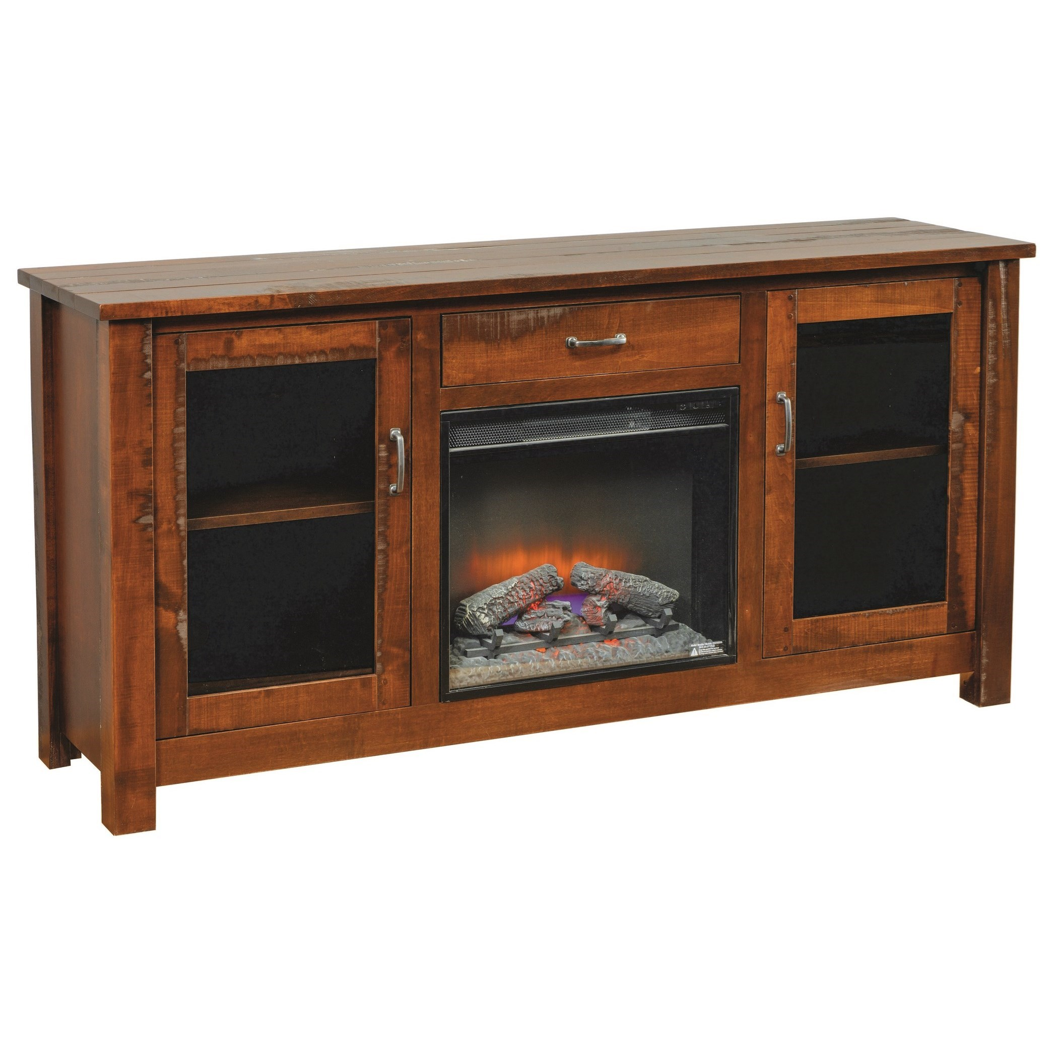 Entertainment Fireplace TV Stand by INTEG Wood Products at Saugerties Furniture Mart