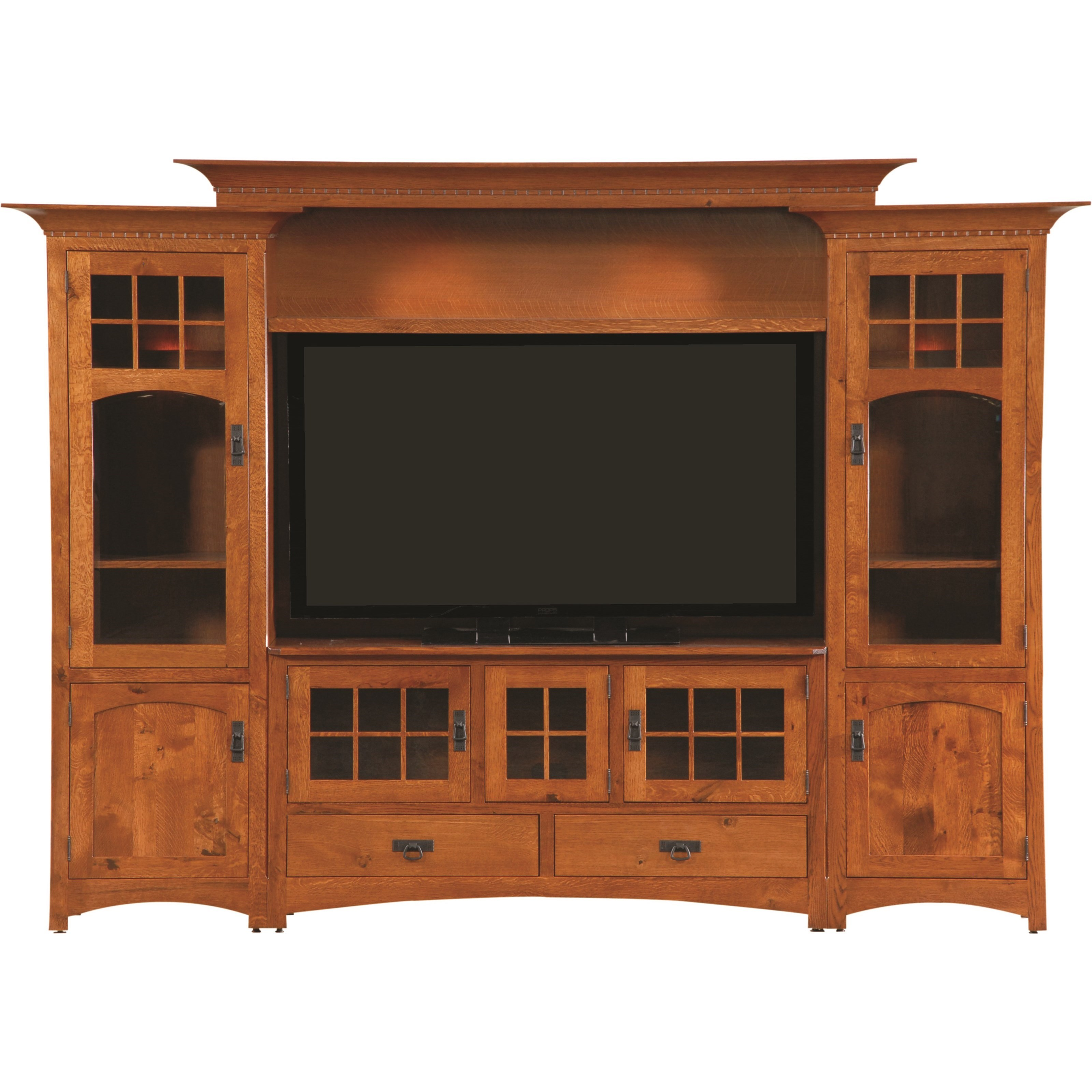 Entertainment Customizable Winchester Bridge Wall Unit by INTEG Wood Products at Saugerties Furniture Mart