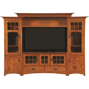 Customizable Winchester Bridge Wall Unit with Wire Management and Can Lighting