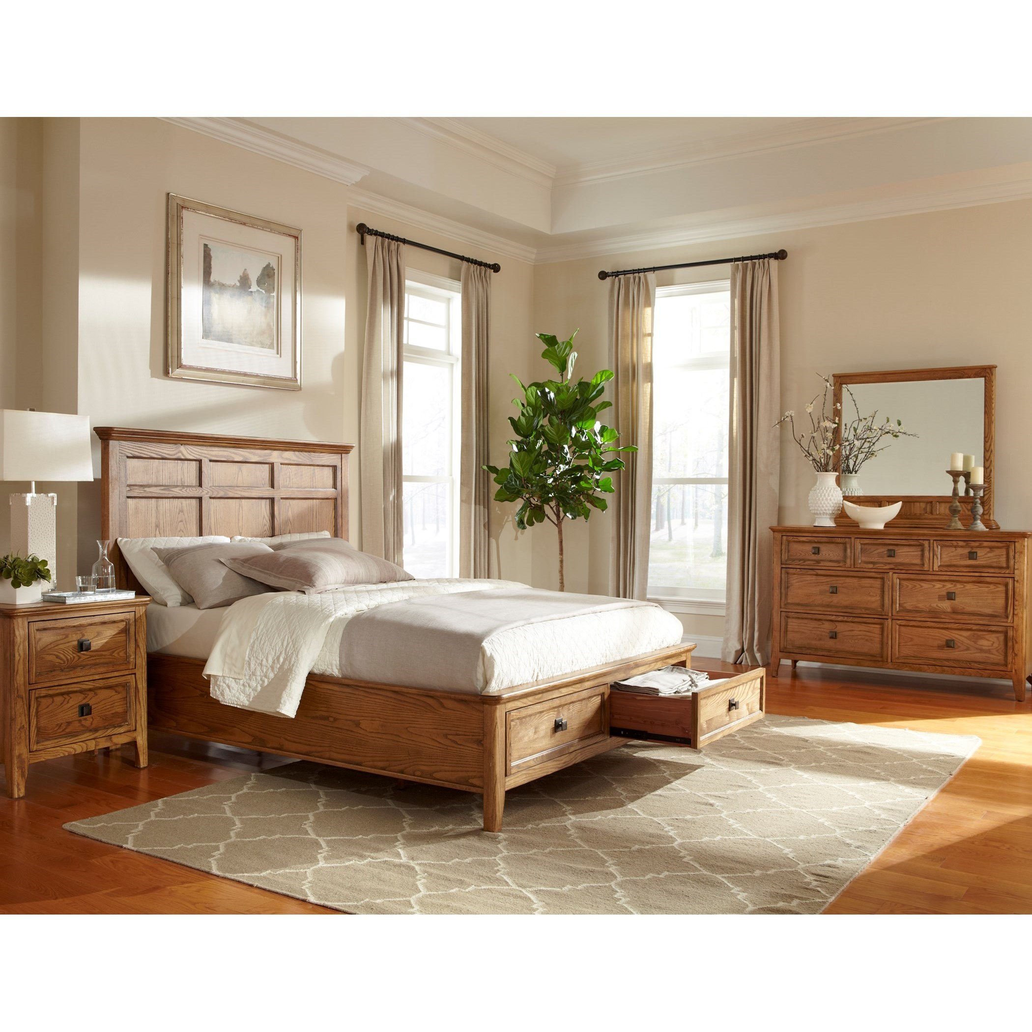 Alta Queen Bedroom Group by Intercon at Rife's Home Furniture