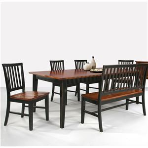 Intercon Arlington Four Shaker Leg Dining Table
