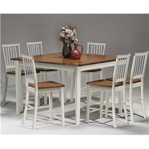 Intercon Arlington Gathering Table & Bar Stool Set