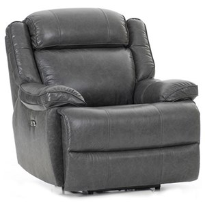 Casual Dual Power Recliner with Power Headrest and USB Port