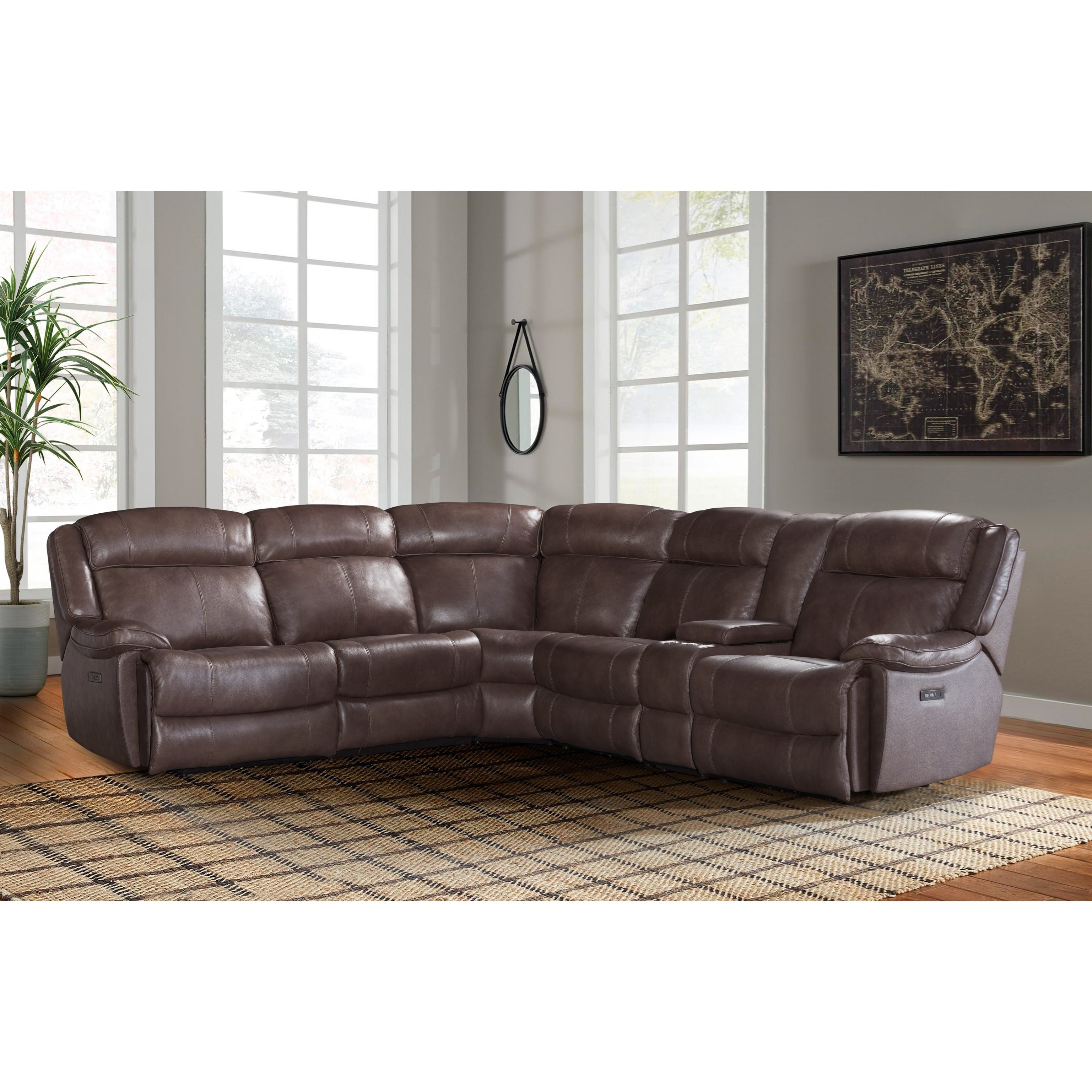 Avalon Dual Power Reclining Sectional Sofa by Intercon at Rife's Home Furniture