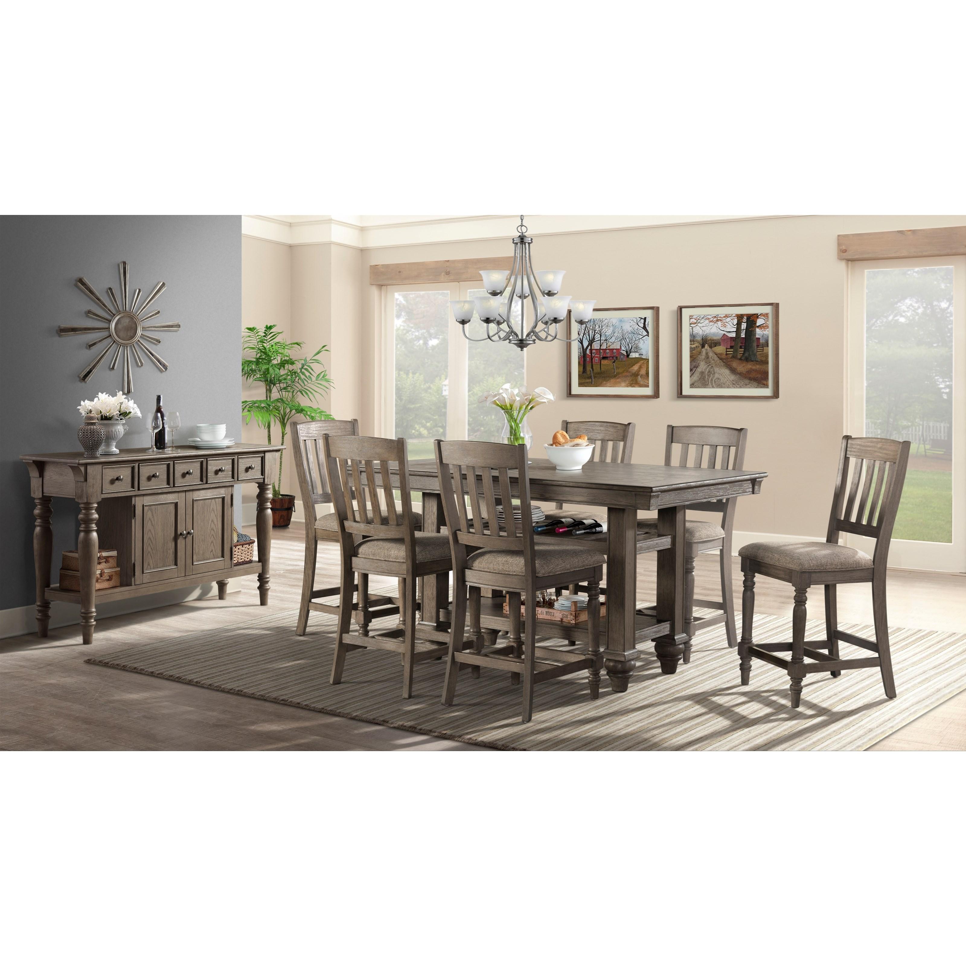 Balboa Park  Formal Dining Group by VFM Signature at Virginia Furniture Market