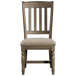 Transitional Dining Chair with Upholstered Seat