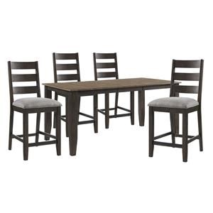 Counter Height Table and 4 Upholstered Chair