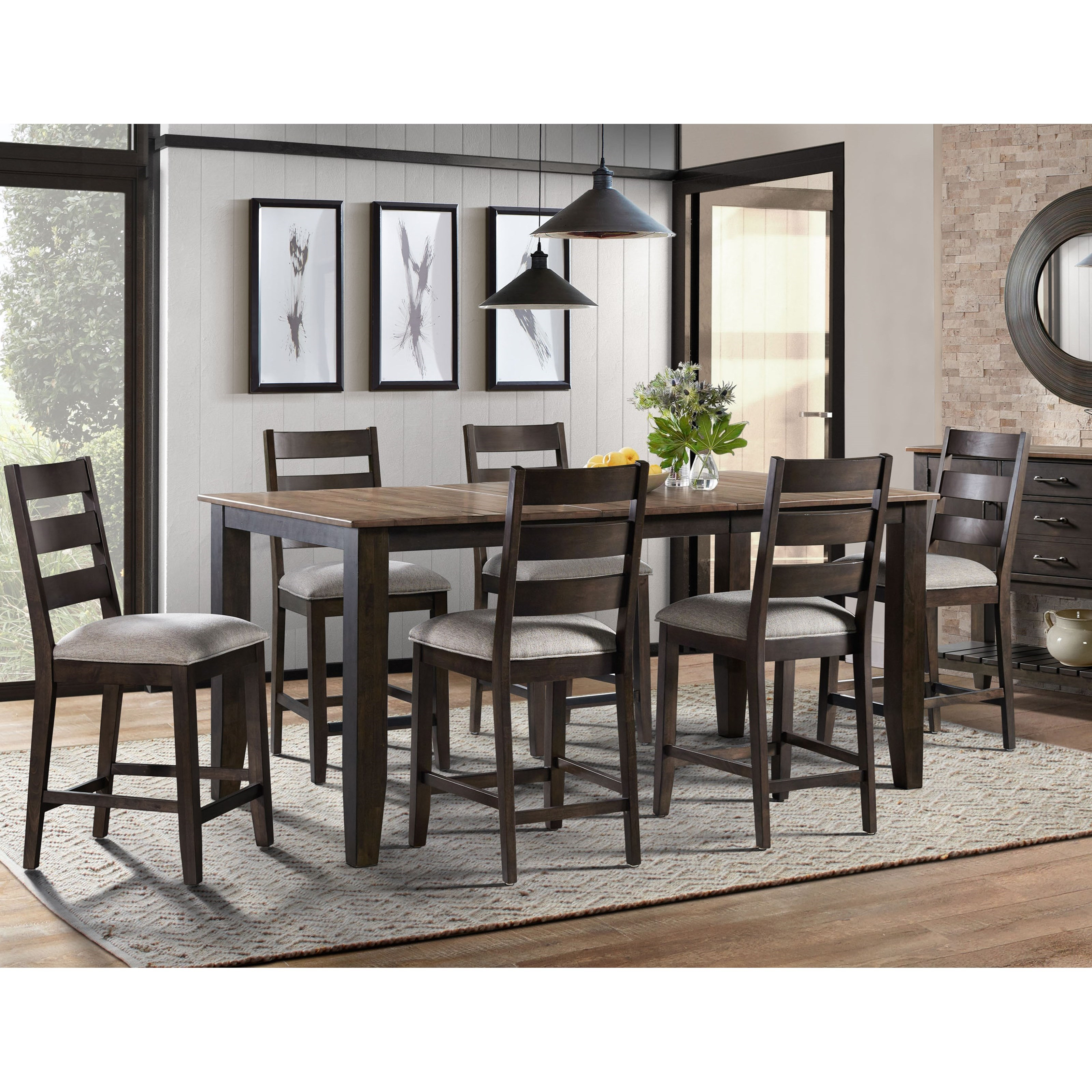 Beacon 7-Piece Counter Height Table and Chair Set by Sussex Bay at Johnny Janosik