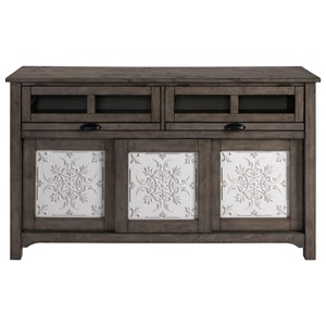 Rustic Sideboard with Sliding Doors