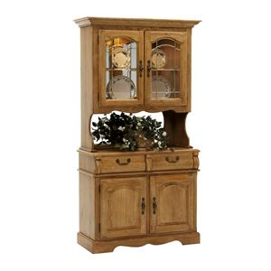 """42"""" China Hutch with Two Half Drawers with Two Drawer Buffet"""
