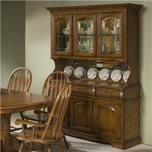 """60"""" China Hutch with Three Half Doors with Three Drawer Buffet"""