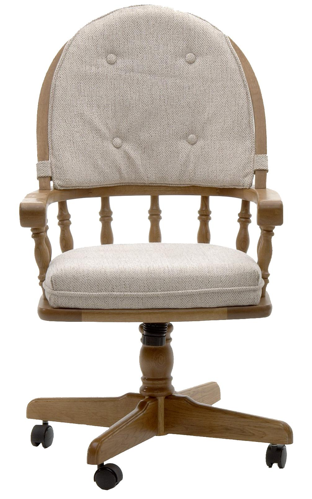 Classic Oak Game Chair with Casters by Intercon at Darvin Furniture