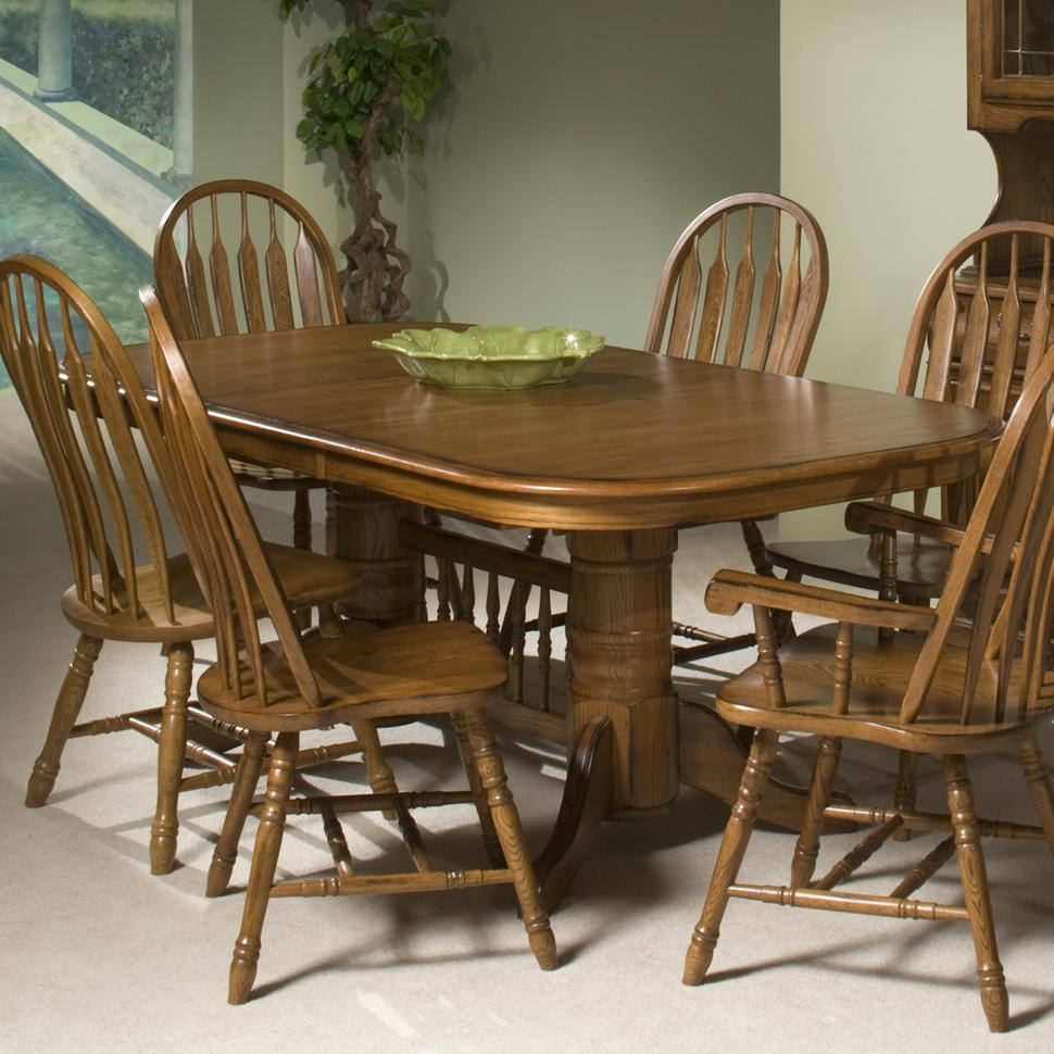 Classic Oak Trestle Table by Intercon at Wilson's Furniture