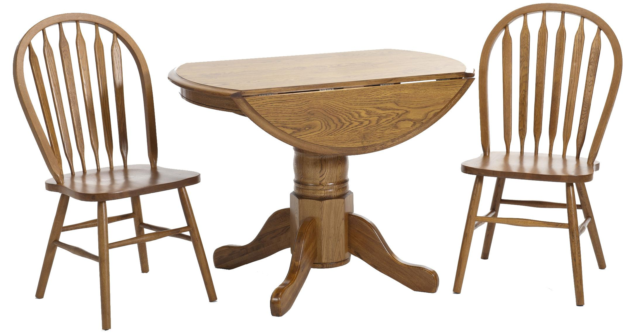 Classic Oak 3 Piece Dining Set by Intercon at Dinette Depot