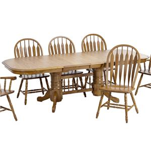"Trestle Dining Table with 2 18"" Leaves"
