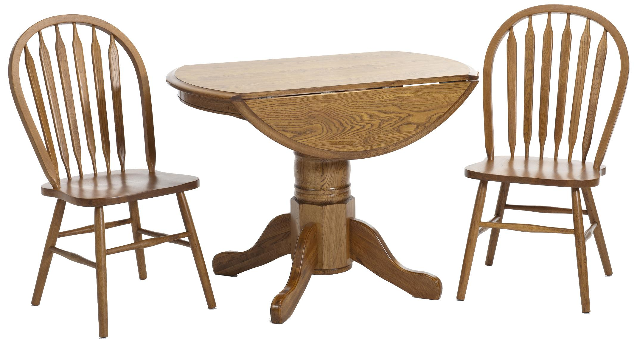 Classic Oak 3 Piece Dining Set by Intercon at Rife's Home Furniture