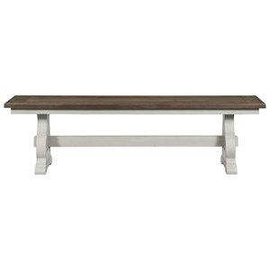 Cottage Dining Bench with Trestle Base