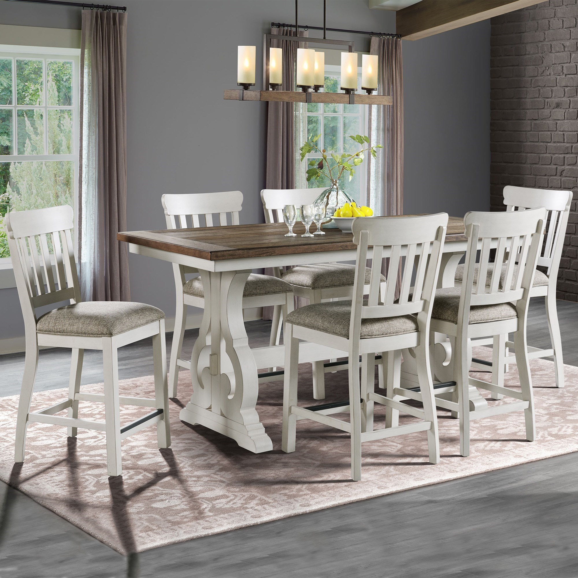 Drake 7-Piece Counter Height Table and Chair Set by Intercon at Dinette Depot