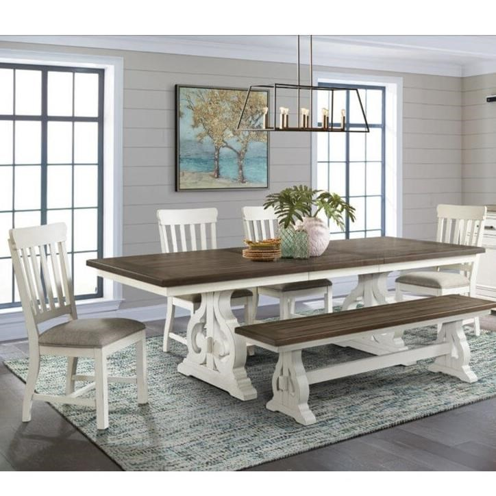 Drake Table and Chair Set with Bench by Intercon at Dinette Depot