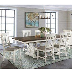 Cottage 7-Piece Table and Chair Set with Storing Leaf