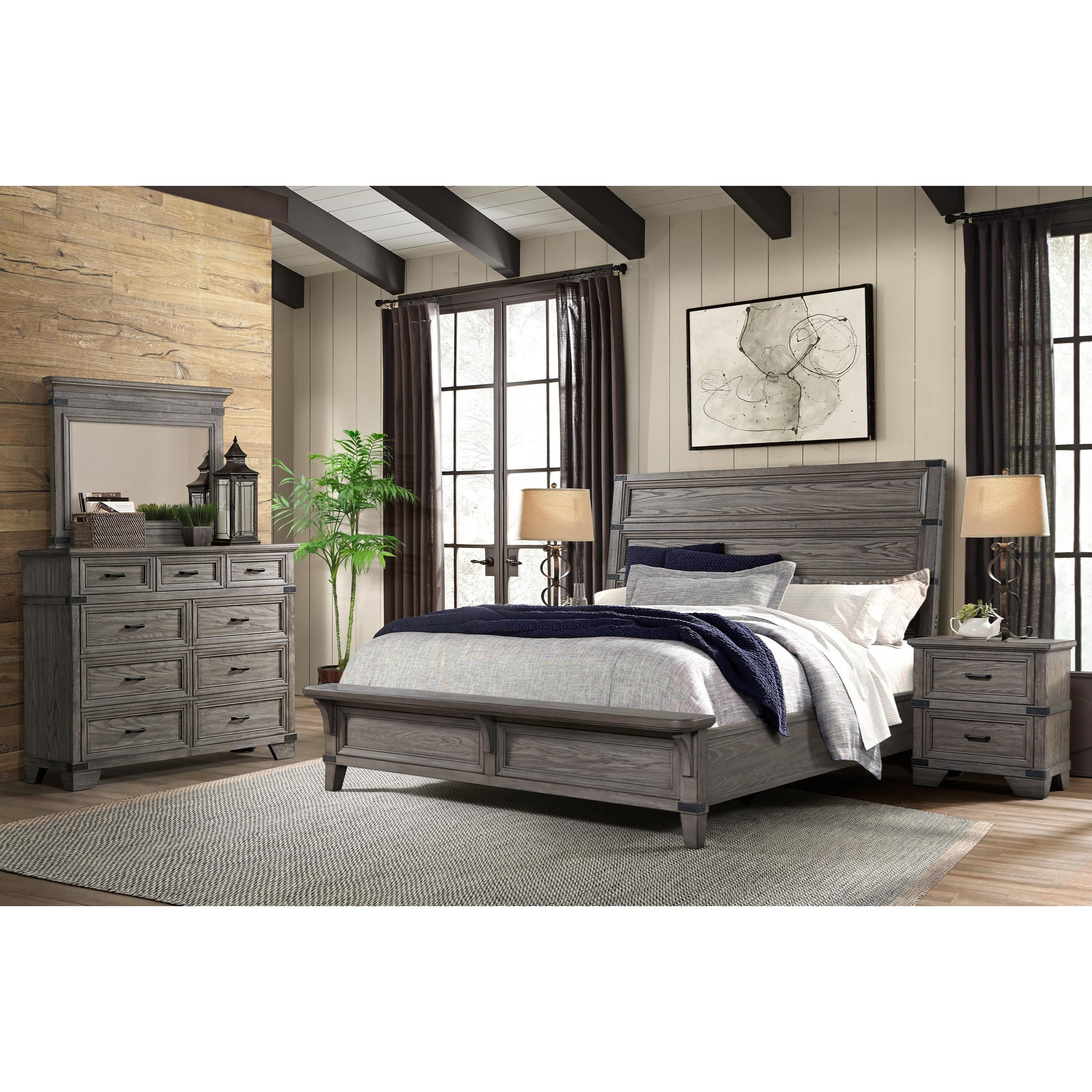 Falco 4 Piece King Bedroom Group at Walker's Furniture