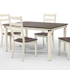Two-Toned Dining Table with Leaf