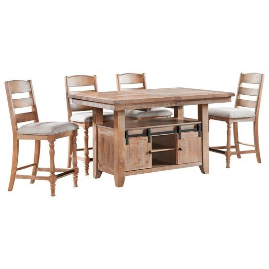 Highland 5-Piece Counter Height Table and Chair Set by Intercon at Dinette Depot