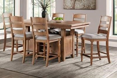 Highland 7-Piece Counter Height Table and Chair Set by Intercon at Dinette Depot
