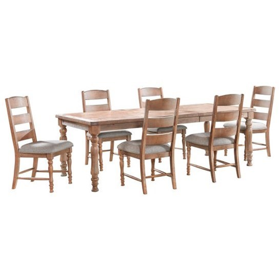 Highland 7-Piece Table and Chair Set by VFM Signature at Virginia Furniture Market