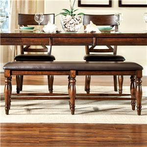 Intercon Kingston  Backless Bench with Cushion