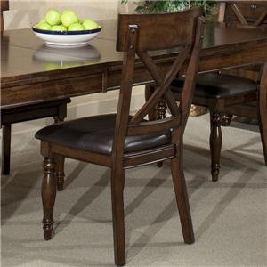 Intercon Kingston  X-Back Side Chair