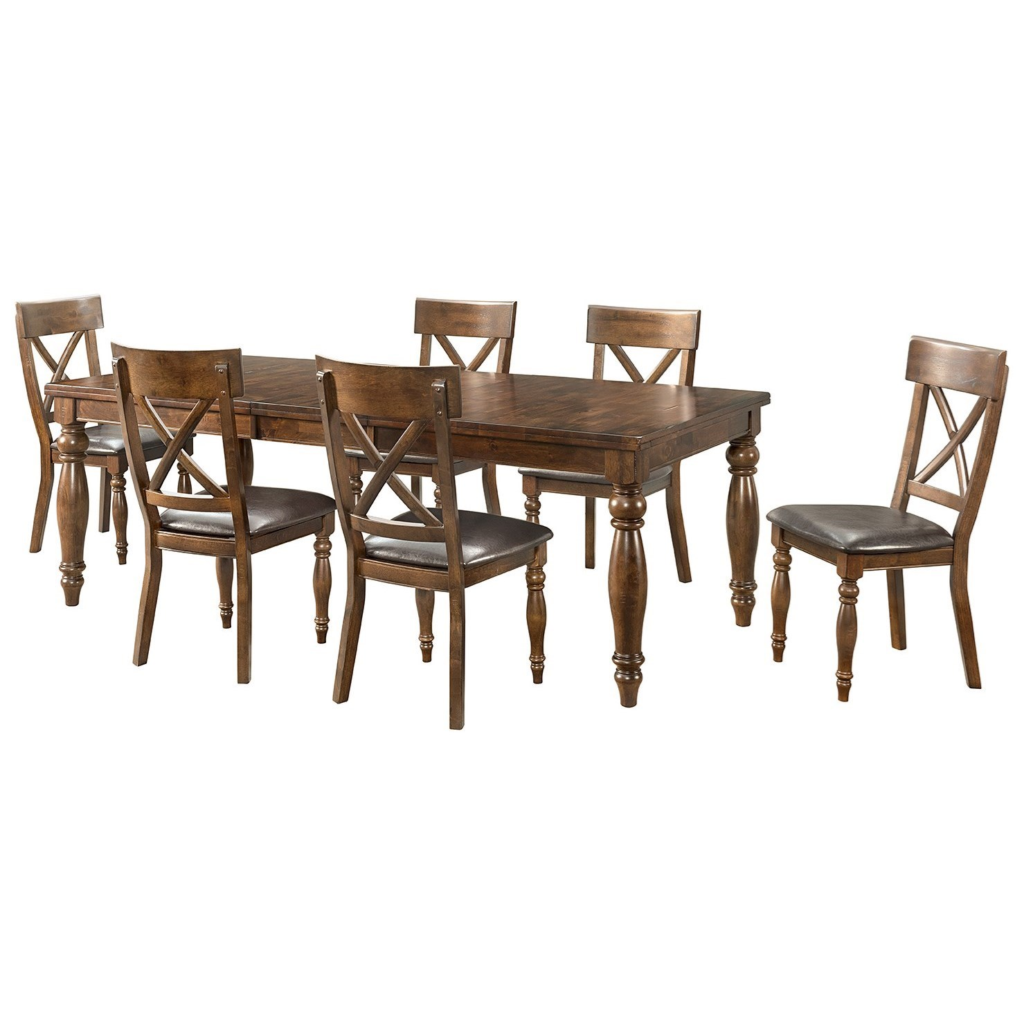 Kingston  7 Piece Dining Set by Intercon at Goffena Furniture & Mattress Center